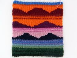 ペルー製手織りウールコースター アンデス・サンライズ