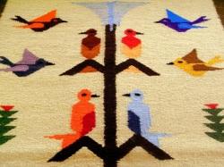 手織りウールタペストリー 幸福の木