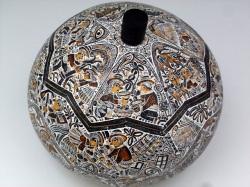 ペルー製ひょうたん小物入れ モンターニャ