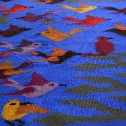 ペルーお土産 手織りアルパカタペストリー